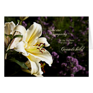 Sympathy on the death of a grandchild. greeting card