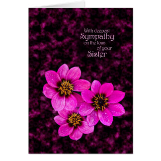 Sympathy on the loss of a sister card
