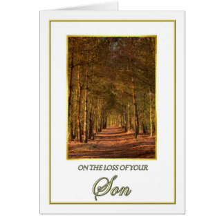 Sympathy on the Loss of Your Son Pine Path Card