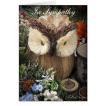 Sympathy Owl with spiritual verse Greeting Card