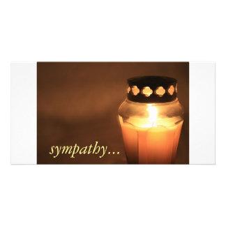 sympathy... customised photo card
