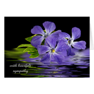 sympathy-purple myrtle reflection greeting card
