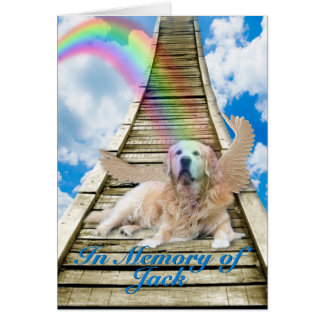 Sympathy - Rainbow Bridge - Golden Retriever Card