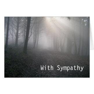 Sympathy Rays Through Fog Card