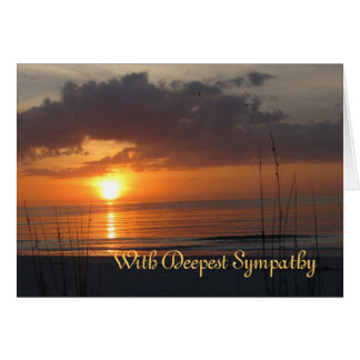 Sympathy Sunset Frye Poem Card