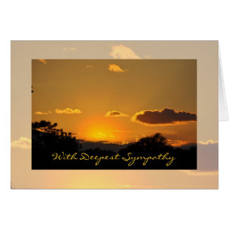 Sympathy Sunset Greeting Card by Janz