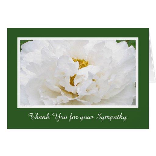 sympathy thank you card zazzle