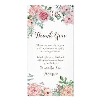 Sympathy Thank You Card, Memorial Photo Card Template