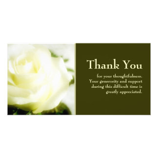 Sympathy Thank You Personalised Photo Card