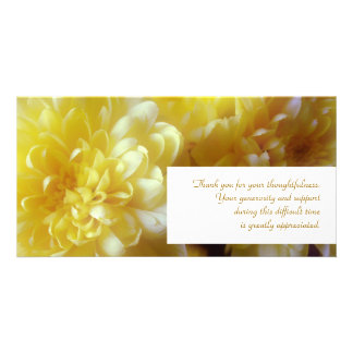 Sympathy Thank You Personalized Photo Card
