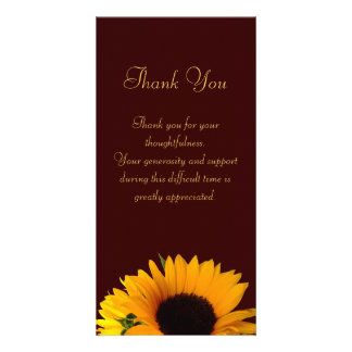 Sympathy Thank You Photo Greeting Card