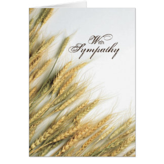 Sympathy Wheat Card