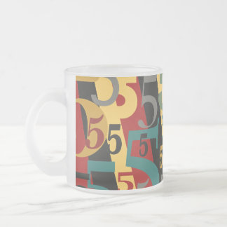 Symphony # 5 Fifth or Fiftieth Birthday Annivesary Frosted Glass Mug