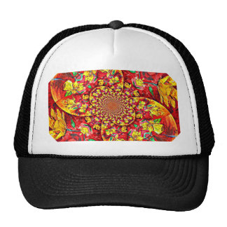 Symphony of Red. Abstract Flower Design Hat