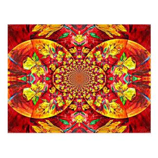 Symphony of Red. Abstract Flower Design Postcard