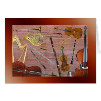 Symphony Orchestra Instruments Greeting Card