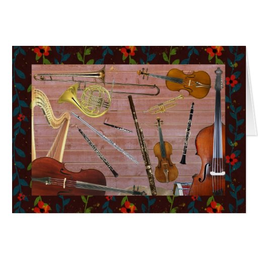 symphony orchestra instruments greeting card zazzle. Black Bedroom Furniture Sets. Home Design Ideas