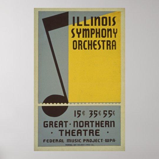 Symphony Orchestra Vintage Poster