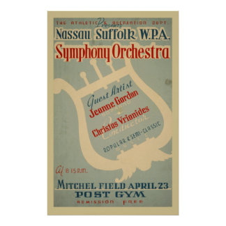 Symphony Orchestra WPA Vintage Music Poster