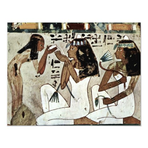 Symposium Detail By Maler Der Grabkammer Des Thot 11 Cm X 14 Cm Invitation Card