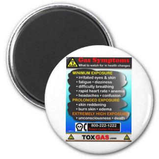 Symptoms of Gas Poisoning 6 Cm Round Magnet