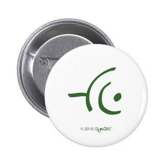 SymTell Green Apprehensive Symbol Pin