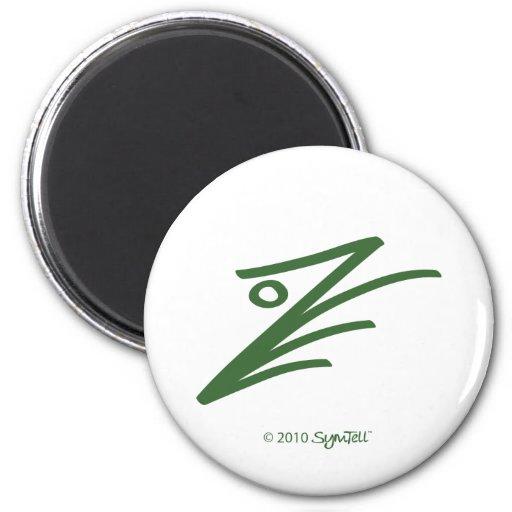 SymTell Green Assertive Symbol Fridge Magnet