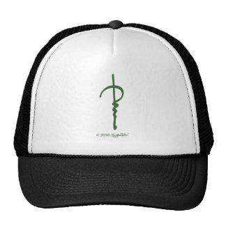 SymTell Green Bored Symbol Trucker Hats