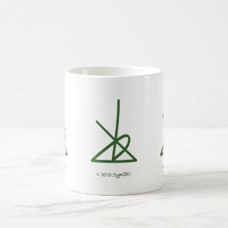 SymTell Green Disciplined Symbol Coffee Mugs