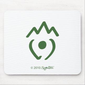 SymTell Green Disloyal Symbol Mouse Pad