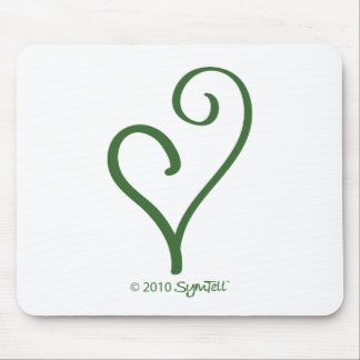 SymTell Green Energetic Symbol Mouse Pad