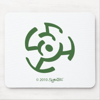 SymTell Green Frustrated Symbol Mouse Pad