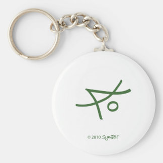 SymTell Green Liberal Symbol Key Chain