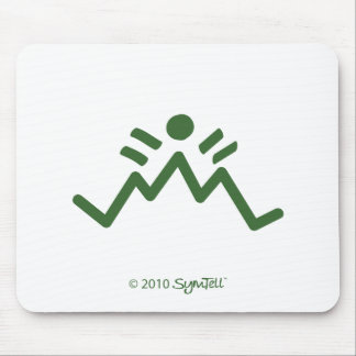 SymTell Green Pessimistic Symbol Mouse Pad