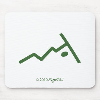 SymTell Green Rebellious Symbols Mouse Pad