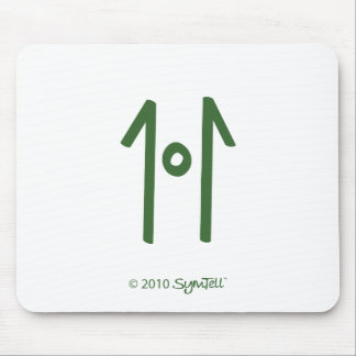 SymTell Green Rigid Symbol Mouse Pad
