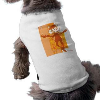 SymTell Orange Layered Naughty Dancer Dog Tshirt