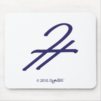 SymTell Purple Admiration Symbol Mouse Pads