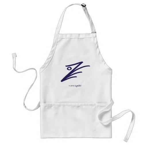 SYmTell Purple Assertive Symbol Aprons