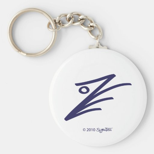SYmTell Purple Assertive Symbol Keychains