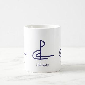 SymTell Purple Competitive Symbol Basic White Mug
