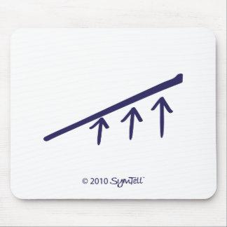 SymTell Purple Depressed Symbol Mouse Pad