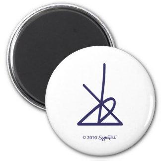 SymTell Purple Disciplined Symbol Magnet