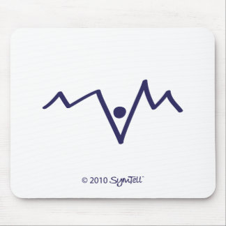 Symtell Purple Helpless Symbol Mouse Pad