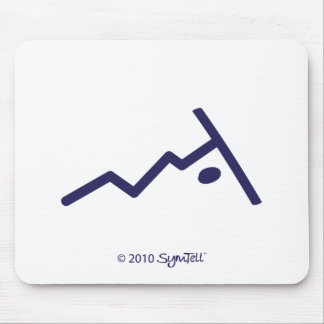 SYmTell Purple Rebellious Symbol Mouse Pads