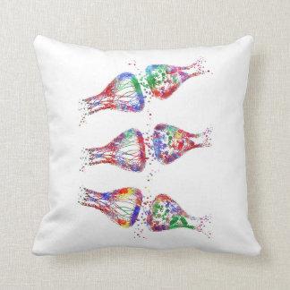 Synapse receptor, neurology, medical art cushion
