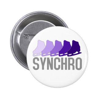Synchro Skates 6 Cm Round Badge