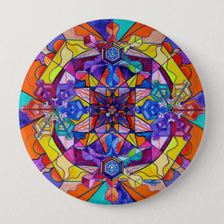 """Synchronicity"" 4 Inch Button"
