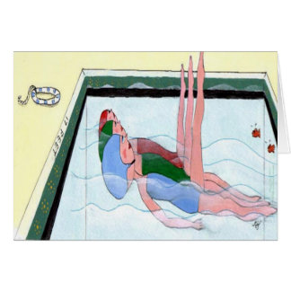 Synchronised Swimming Greeting Card
