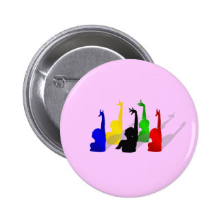 Synchronised swimming Synchronised swimmers 6 Cm Round Badge